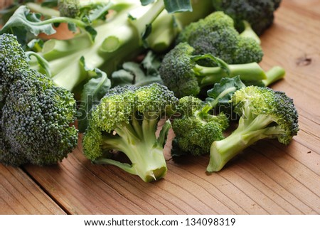 green broccoli on wood table