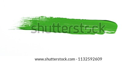 Green brush stroke isolated over white background #1132592609