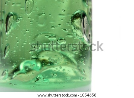Green bubbling liquid