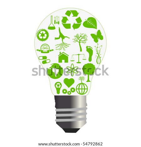 Green Bulb Concept. EPS available in my portfolio.