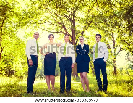 Green Business Team Corporate Eco-friendly Concept #338368979