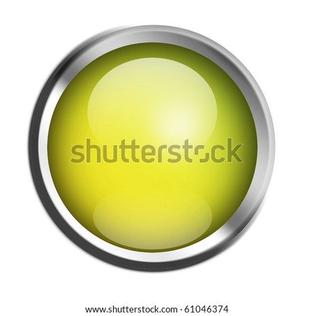 Green button ready to add text or design, isolated illustration