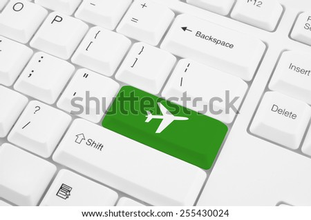 Free Photos Online Flight Booking Icon Button Of A Computer Keyboard