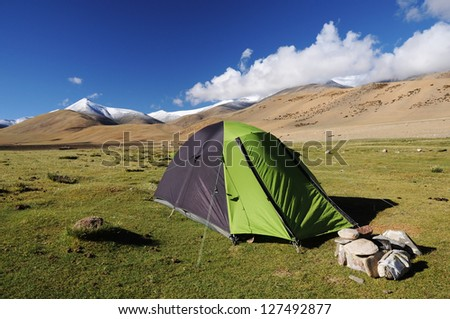 camping in mountain
