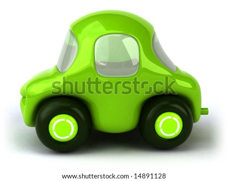 Green car - stock photo