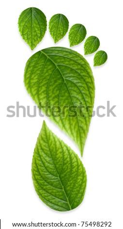 Green Carbon Foot Print Concept