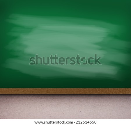 Green chalk board texture empty blank with chalk traces.