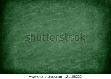 Green chalkboard / blackboard. Great texture background. Photo.