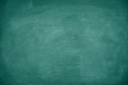 Green Chalkboard. Chalk texture school board display for background. chalk traces erased with copy space for add text or graphic design. Education concepts