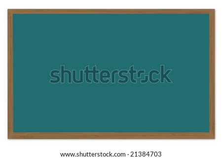 Green Chalkboard 3d render - stock photo