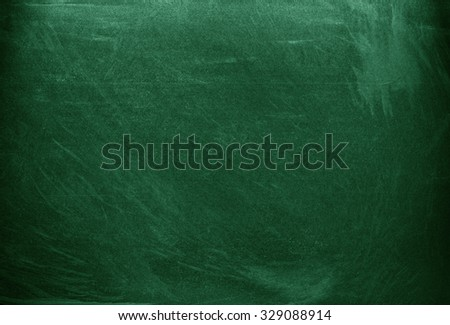 Green chalkboard. Green background