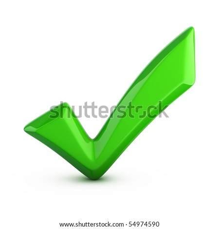 green check mark isolated on white
