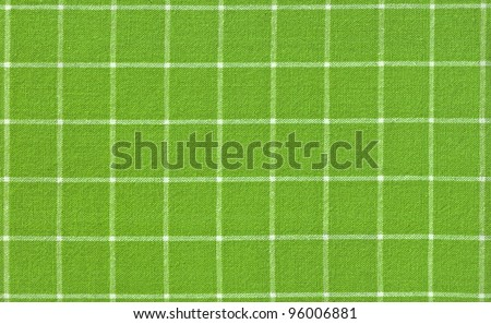 Green checked fabric background