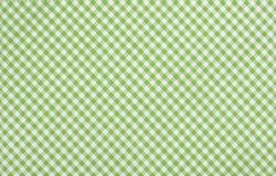 green checkered fabric closeup , tablecloth texture