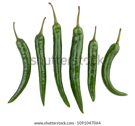 green chili pepper path isolated