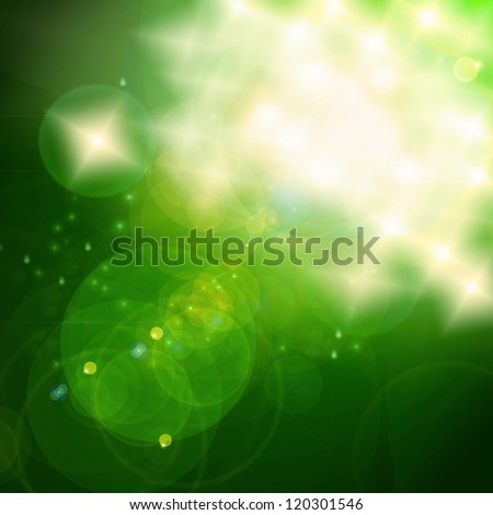 Green Christmas Bokeh, out of focus lights and lens flares