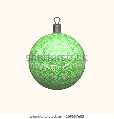green christmas decoration