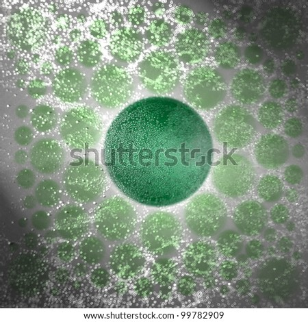 Green circle for carbonated water