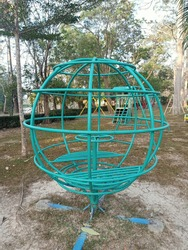 Green Circle plaything in the playground.