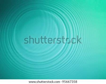 Green circle water ripple background