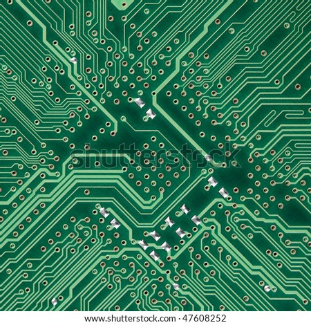 Green circuit board electronic square photo - texture