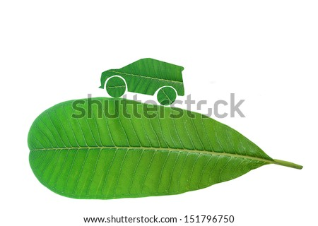 green city car with green concept