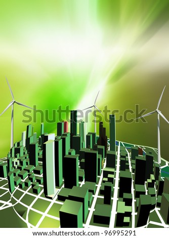 Green city - Conceptualization for green buildings focuses on eco-efficiency