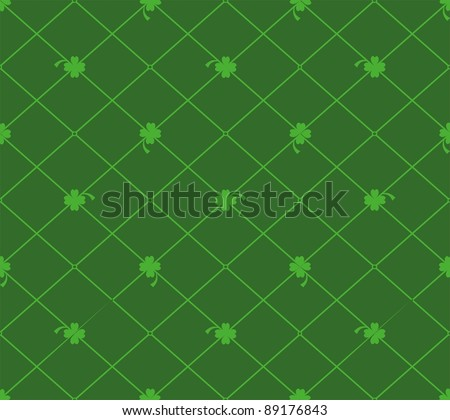 green clover background for St. Patricks Day. Seamless pattern - stock photo