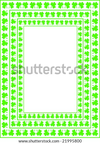green clover frame with copy space
