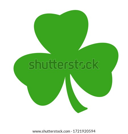 Green clover leaf isolated on white background. with three-leaved shamrocks. St. Patrick's day holiday symbol. Сток-фото ©