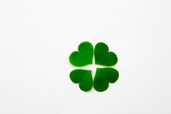 green clover leaf lucky charm is believed bring luck or fortune isolated in white background
