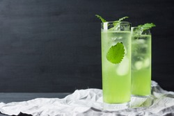 Green cocktail with mint