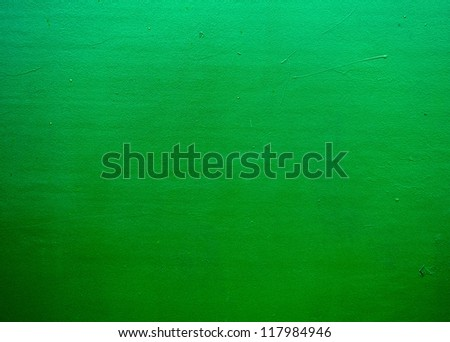 Green color background, green not very clean natural wall, texture