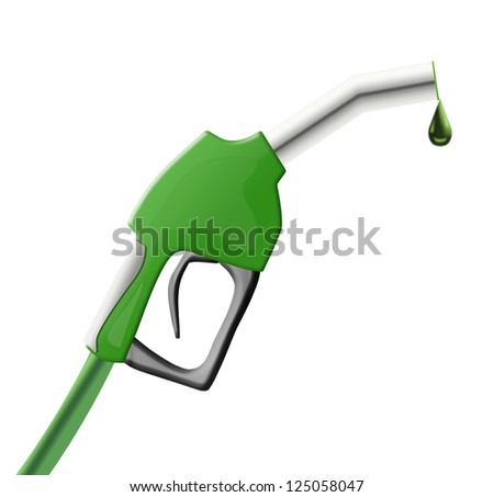 Green color gun from the fuel pump