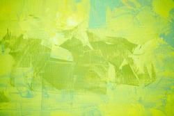 Green color oil painting texture. Abstract background
