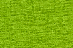 Green colored plain textured cardstock background image. Color swatch shade with copy space.