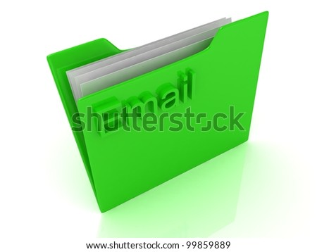 Green computer folder labeled Email