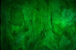 Green concrete wall abstract background