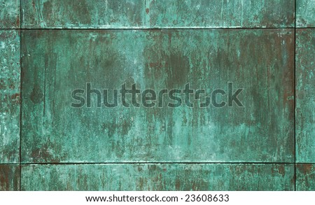 green copper plate texture
