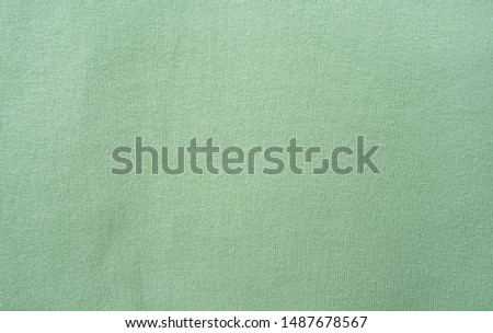 Green cotton knit fabric texture material background material