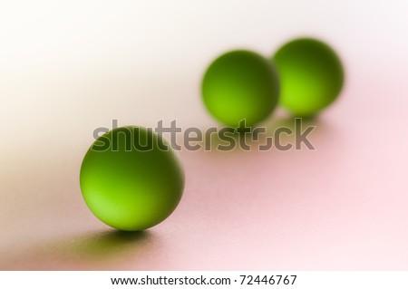 green crystal spheres