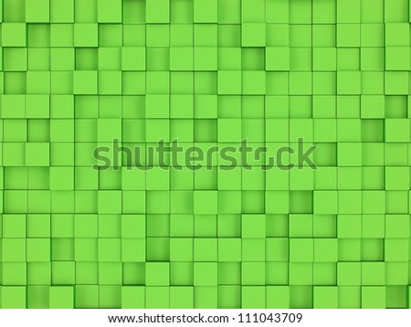 Green cubes background