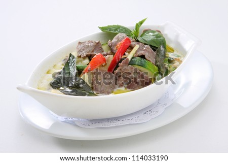 Green Curry Beef with Bamboo Shoots