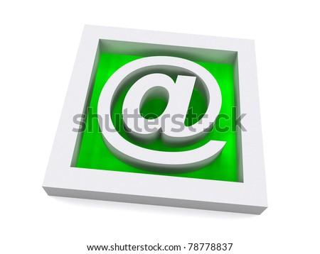 Green 3D e-mail Sign