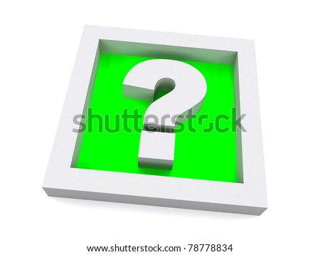 Green 3D Question Sign