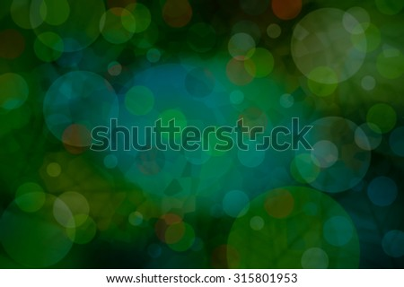 Green dark  bokeh circle night  disco abstract  photo