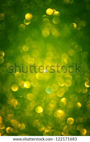 green defocused lights - stock photo