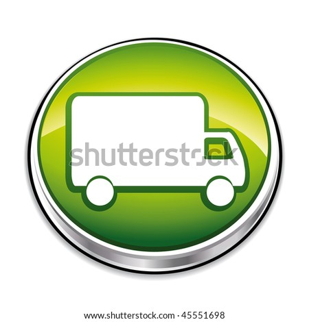 Green delivery concept button.