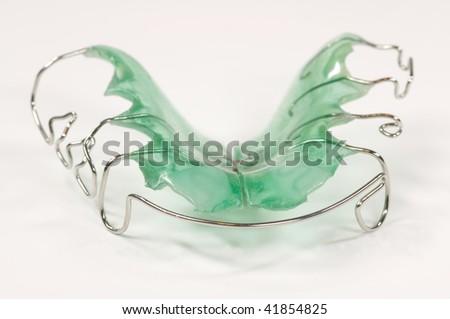 green dental brace