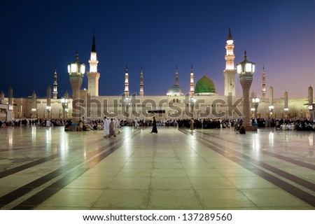 Green Dome at Nabawi